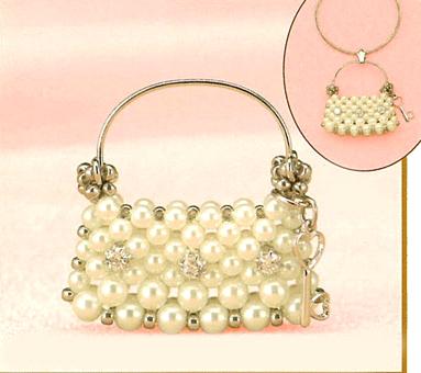 日本趣味手工串珠水晶小手提包