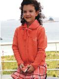 女童红色外套