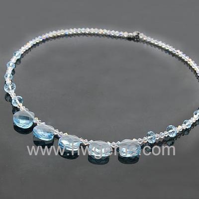 镶钻项链 锆石项链 宏旺宝石饰品批发直销