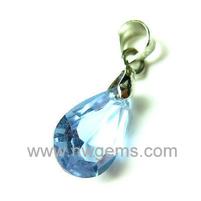 蓝色锆石吊坠
