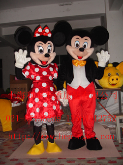 批发上海卡通服装 表演人偶服饰 米老鼠