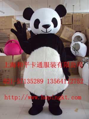 加工小熊猫卡通人偶服装 上海卡通服饰高清图片